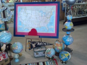 map globes