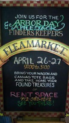 flea market sign 2014