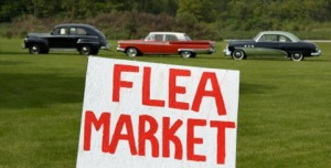 flea market sign old cars