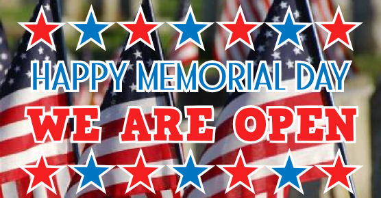 Image result for memorial day weekend we are open