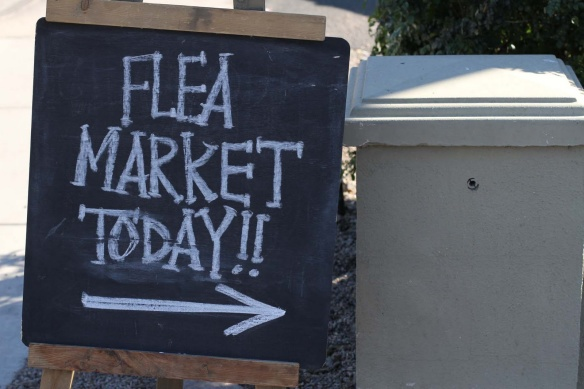 flea market today sign