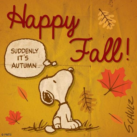 happy fall snoppy