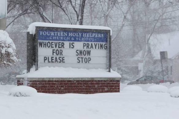 praying for snow stop
