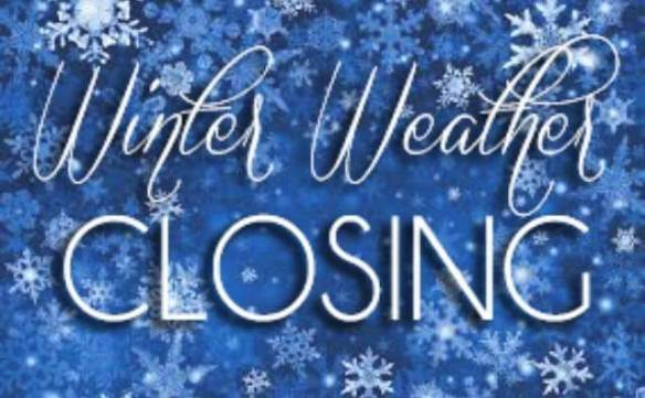 wiinter weather closing